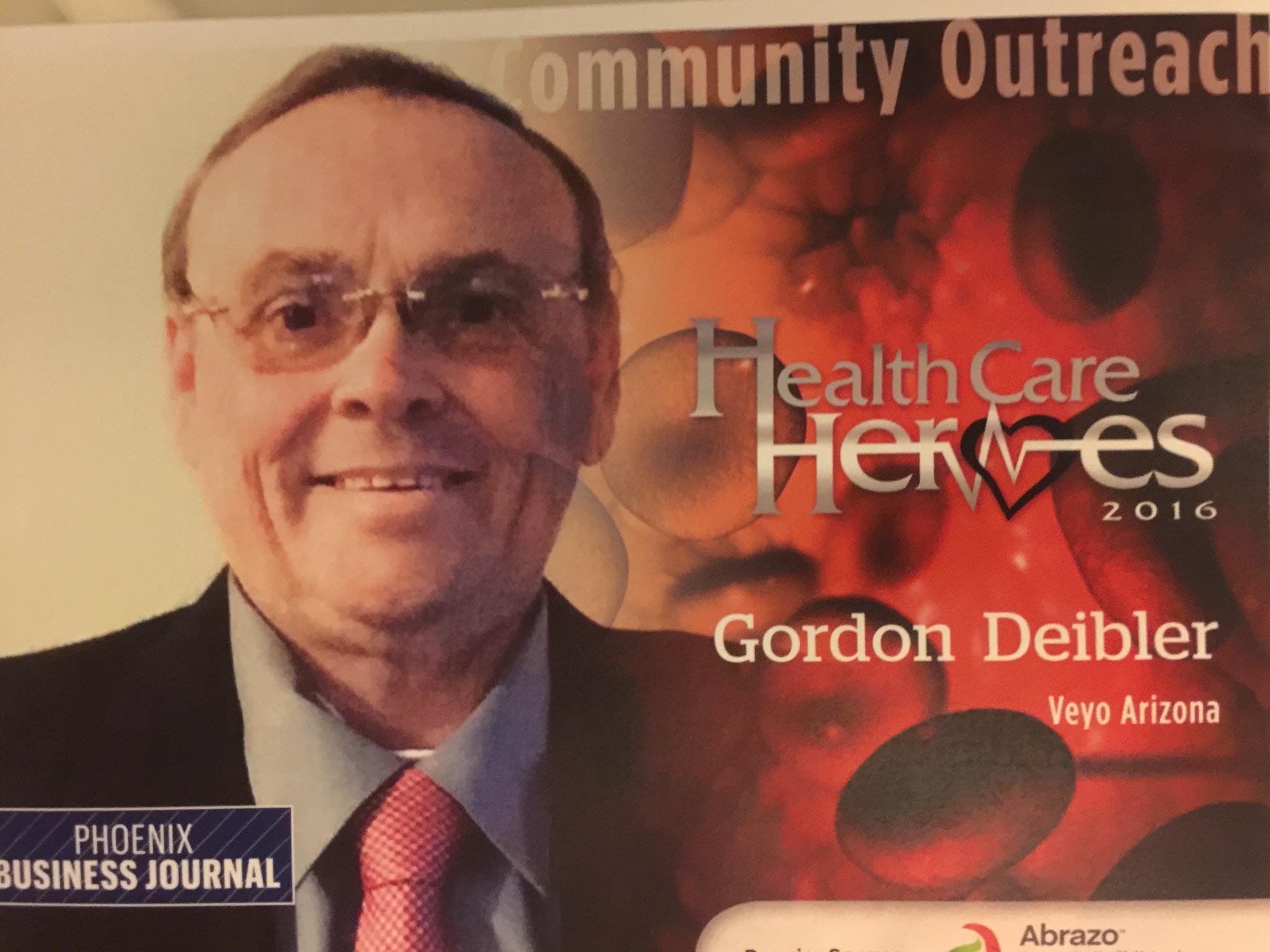 Gordon Diebler nominated for the Phoenix Business Journal Health Care Heroes Award